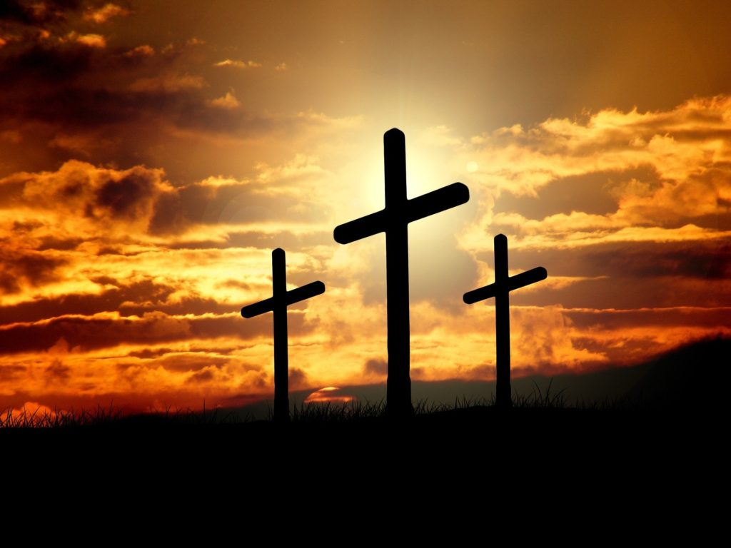 por que jesus crucificado entre 2 criminales
